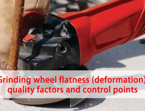 Grinding wheel flatness (deformation) quality factors and control points