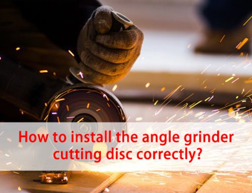 How to install the angle grinder cutting disc correctly?