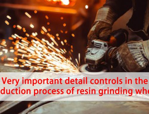 Very important detail controls in the production process of resin grinding wheels